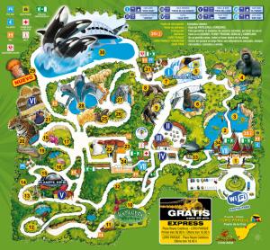 Loro Parque - plán